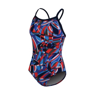 Dolfin Domino Chloroban Print V Back Female product image