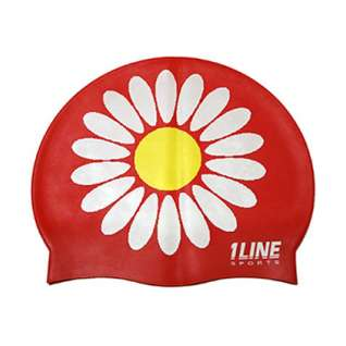 1Line Sports Daisy Silicone Swim Cap product image