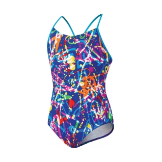 Speedo Graphic Graffiti Keyhole One Piece Suit Girls product image