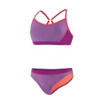 Speedo Heathered Clip Back Two Piece Suit Set Female