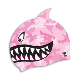 Tyr Shark Fin Jr. Silicone Swim Cap product image