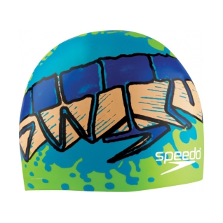 Speedo Tag Team Silicone Swim Cap product image
