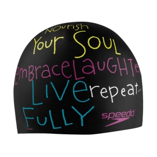 Speedo Morning Mantra Silicone Swim Cap product image