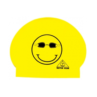 Water Gear Happy Face Latex Swim Cap product image