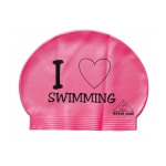 Water Gear Love Swimming Latex Swim Cap