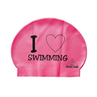 Water Gear Love Swimming Latex Swim Cap product image