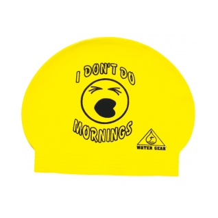 Water Gear I Don't Do Mornings Latex Swim Cap product image