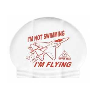 Water Gear Not Swimming, Flying Latex Swim Cap product image