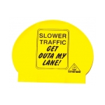 Slow Traffic Sign Swim Cap