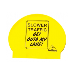 Water Gear Slower Traffic Sign Latex Swim Cap product image