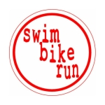 Bay Six Swim Bike Run Round Decal