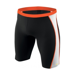 Nike swim jammer in color black and orange
