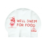 Water Gear Swim Cap WILL SWIM FOR FOOD