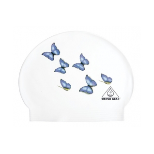 Water Gear Butterflies Latex Swim Cap product image