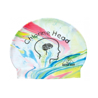 Water Gear Chlorine Head Latex Swim Cap product image