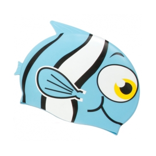 Water Gear Blue Fish Silicone Swim Cap product image