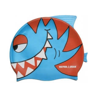Water Gear Blue Pirahna Silicone Swim Cap product image