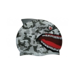Water Gear Grey Shark Silicone Swim Cap
