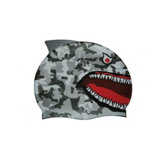 Water Gear Grey Shark Silicone Swim Cap product image