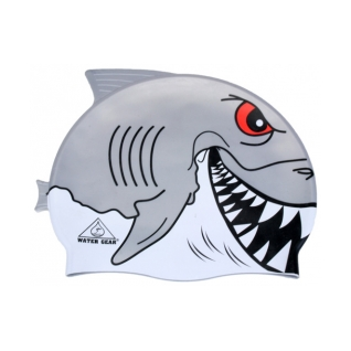 Water Gear Great White Shark Critter Silicone Swim Cap product image