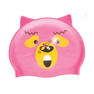 Water Gear Pink Bear Silicone Swim Cap product image