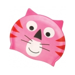 Silicone Swim Cap Pink Cat