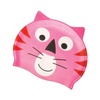 Water Gear Pink Cat Silicone Swim Cap product image