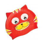 Red Cat Silicone Swim Cap