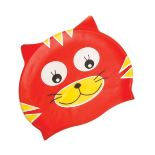 Water Gear Red Cat Silicone Swim Cap product image