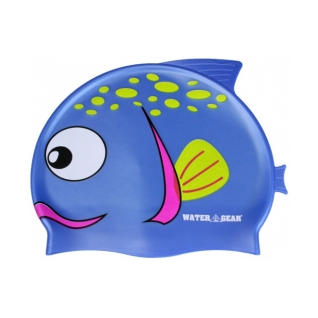 Water Gear Spotted Blue Fish Silicone Swim Cap product image