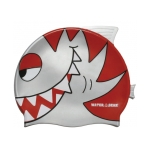 Water Gear Silver Pirahna Silicone Swim Cap
