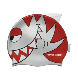 Water Gear Silver Pirahna Silicone Swim Cap product image