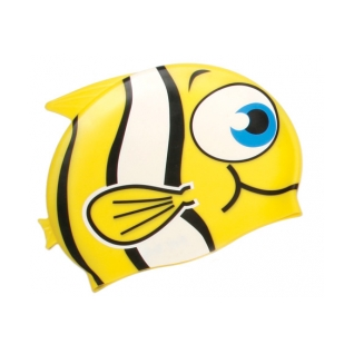 Water Gear Yellow Fish Silicone Swim Cap product image
