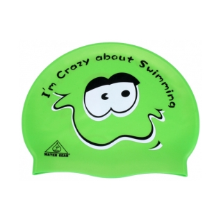 Water Gear Crazy About Swimming Silicone Swim Cap product image