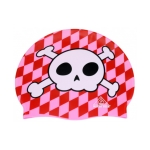Water Gear Skull Silicone Swim Cap