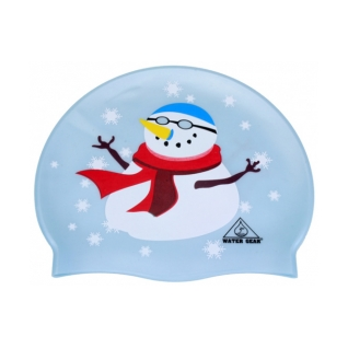 Water Gear Snowman Silicone Swim Cap product image