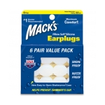 Macks Silicone Ear Plugs 6-Pair Value Pack