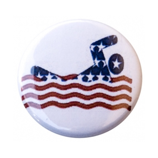 USA Swimmer Button product image