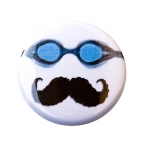 Goggles and Moustache Button
