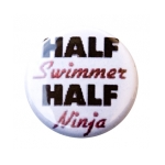 Swim Button Half Swimmer