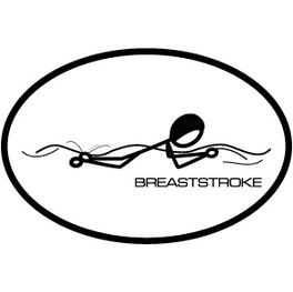 BaySix Breaststroke Stick Figure Magnet product image