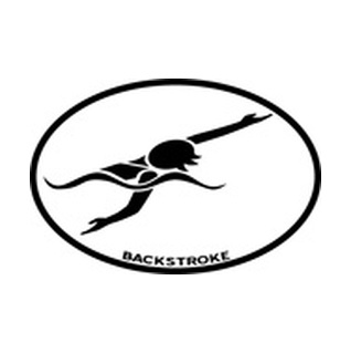BaySix Swimmer Backstroke Car Magnet product image