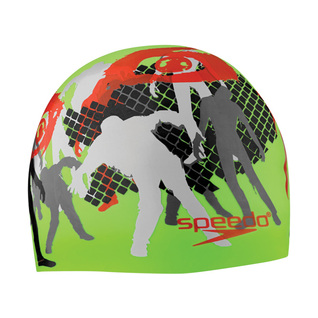 Speedo Thrills and Chills Silicone Swim Cap product image