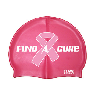1Line Sports Find A Cure Swim Silicone Swim Cap product image