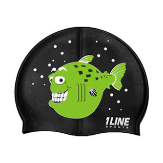 1Line Sports Happy Fish Silicone Swim Cap product image