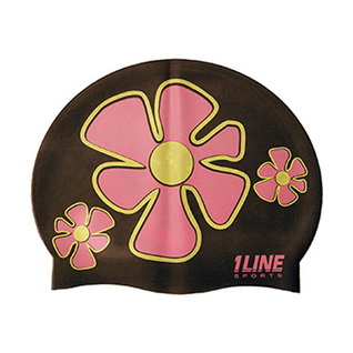 1Line Sports Flower Trio Silicone Swim Cap product image