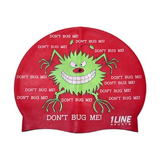1Line Sports Don't Bug Me Silicone Swim Cap product image
