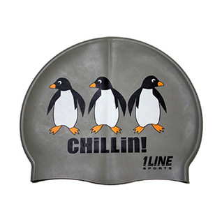 1Line Sports Chillin Silicone Swim Cap product image