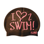 1Line Sports Love 2 Swim Silicone Swim Cap