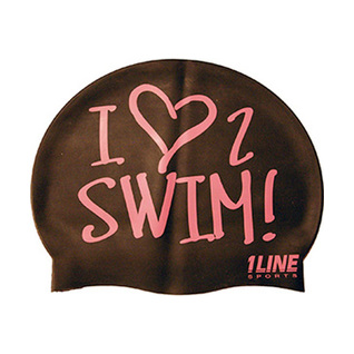 1Line Sports Love 2 Swim Silicone Swim Cap product image